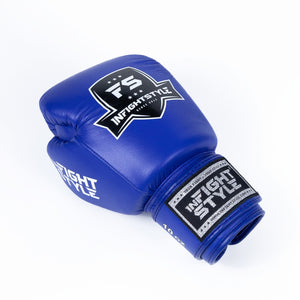 InFightStyle Classic Muay Thai Boxing Gloves - Blue