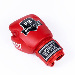InFightStyle Classic Muay Thai Boxing Gloves - Red