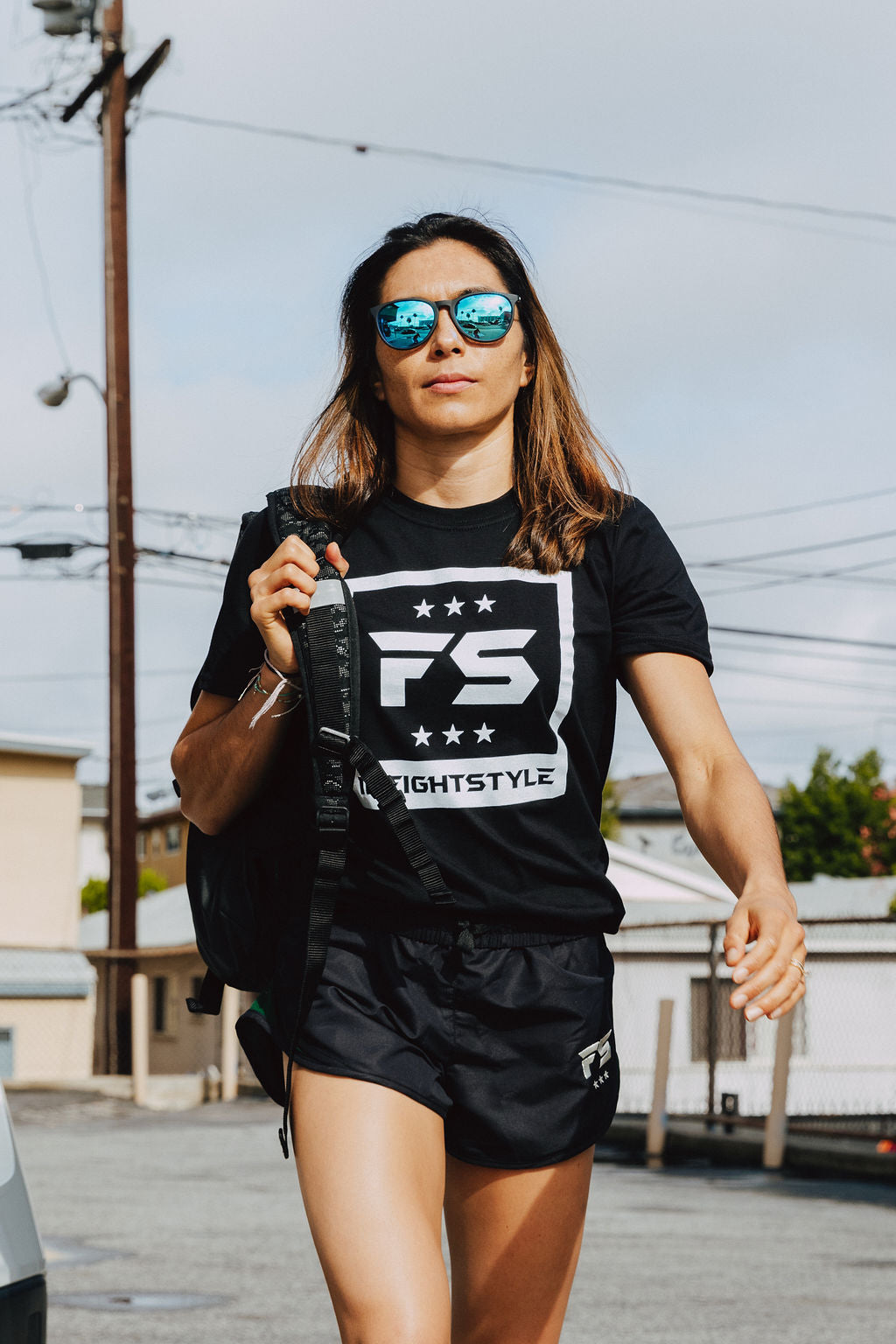 FS Block Logo Tee - Black - InFightStyle Muay Thai Gear, T-Shirt