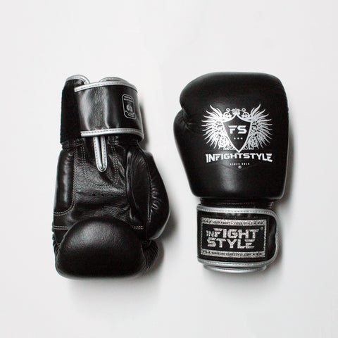 InFightStyle Muay Thai Boxing Gloves - Black