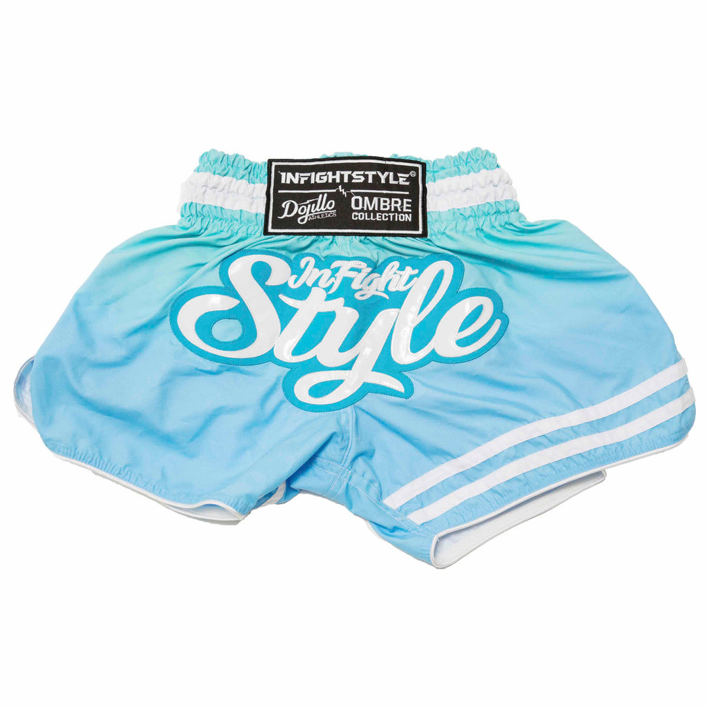 InFightStyle + Dojilo Athletics Ombré Retro Short - Del Mar Ombré - InFightStyle Muay Thai Gear, Retro Shorts