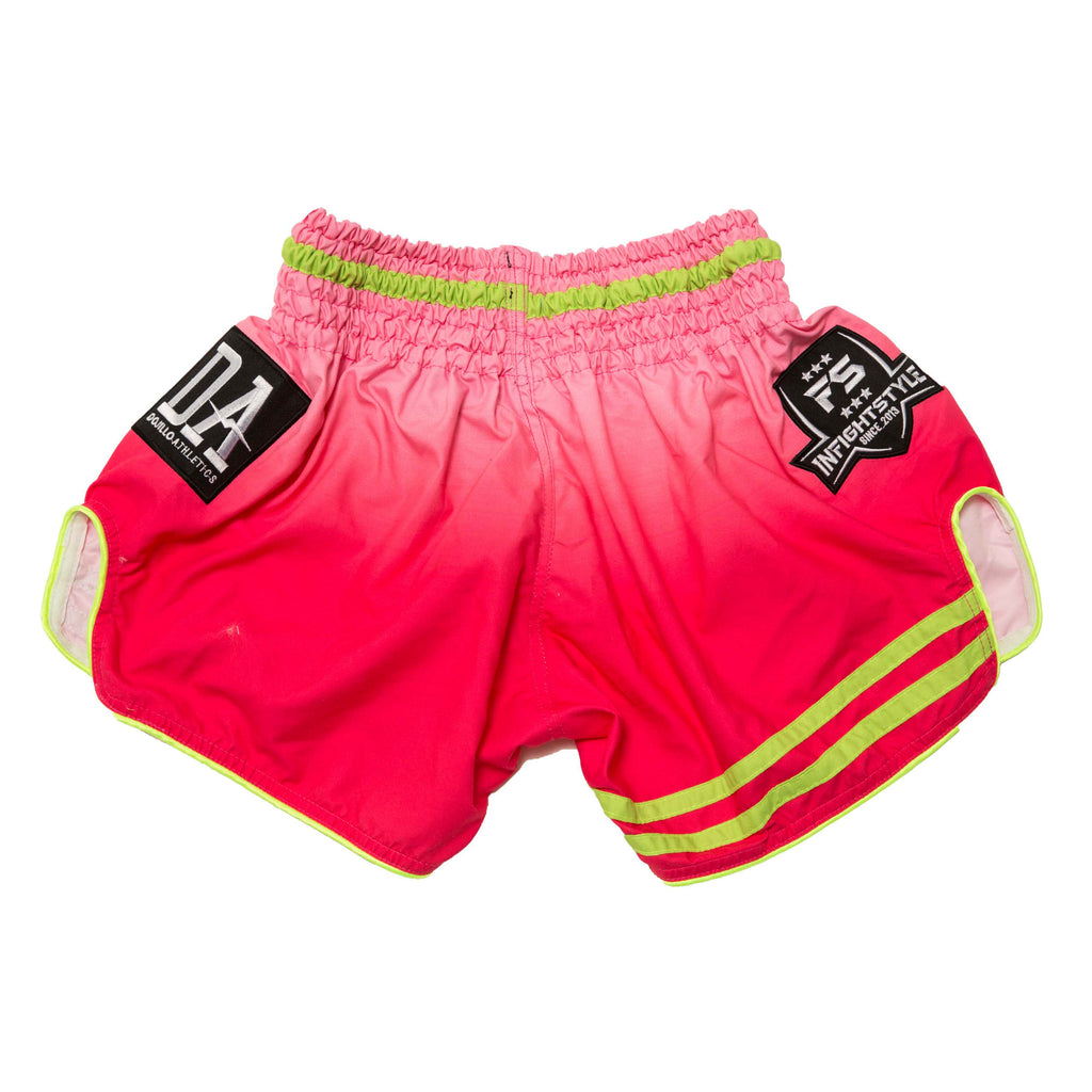 InFightStyle + Dojilo Athletics Ombré Retro Short - Water Melon - InFightStyle Muay Thai Gear, Retro Shorts
