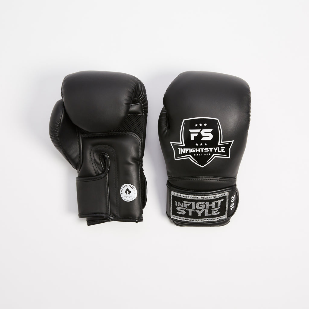 "InFightStyle ""Enfused"" Muay Thai Boxing Glove - Black - InFightStyle Muay Thai Gear, Boxing Gloves"