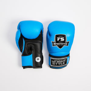 "InFightStyle ""Enfused"" Muay Thai Boxing Glove - Neon Blue - InFightStyle Muay Thai Gear, Boxing Gloves"