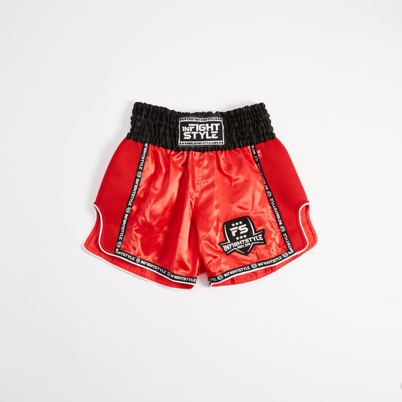 InFightStyle Starter Series - Black/Red - InFightStyle Muay Thai Gear, Retro Shorts