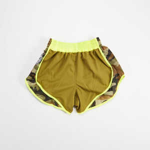 "InFightStyle ""Uncut"" Retro Short - Olive/Camo - InFightStyle Muay Thai Gear, UNCUT"