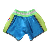 "InFightStyle ""Royal Thai"" Retro - Light Blue/Neon Green"