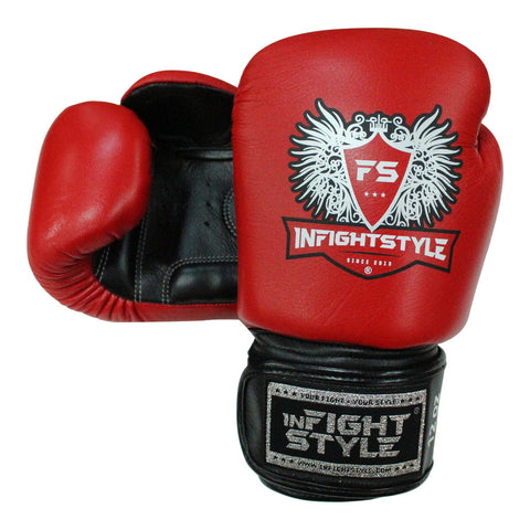 InFightStyle Muay Thai Boxing Gloves - Red