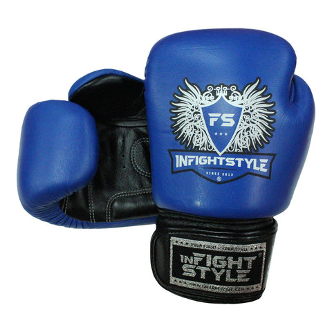 InFightStyle Muay Thai Boxing Gloves - Blue