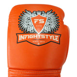 InFightStyle Lace Up Boxing Gloves - Orange - InFightStyle Muay Thai Gear, Boxing Gloves