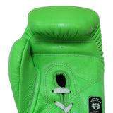 InFightStyle Lace Up Boxing Gloves - Neon Green - InFightStyle Muay Thai Gear, Boxing Gloves
