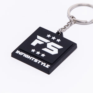 InFightStyle Rubber Keychain - Black
