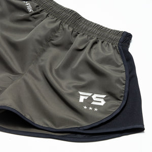 InFightStyle EZ-Fight Shorts - Khaki - InFightStyle Muay Thai Gear, Training Line Shorts