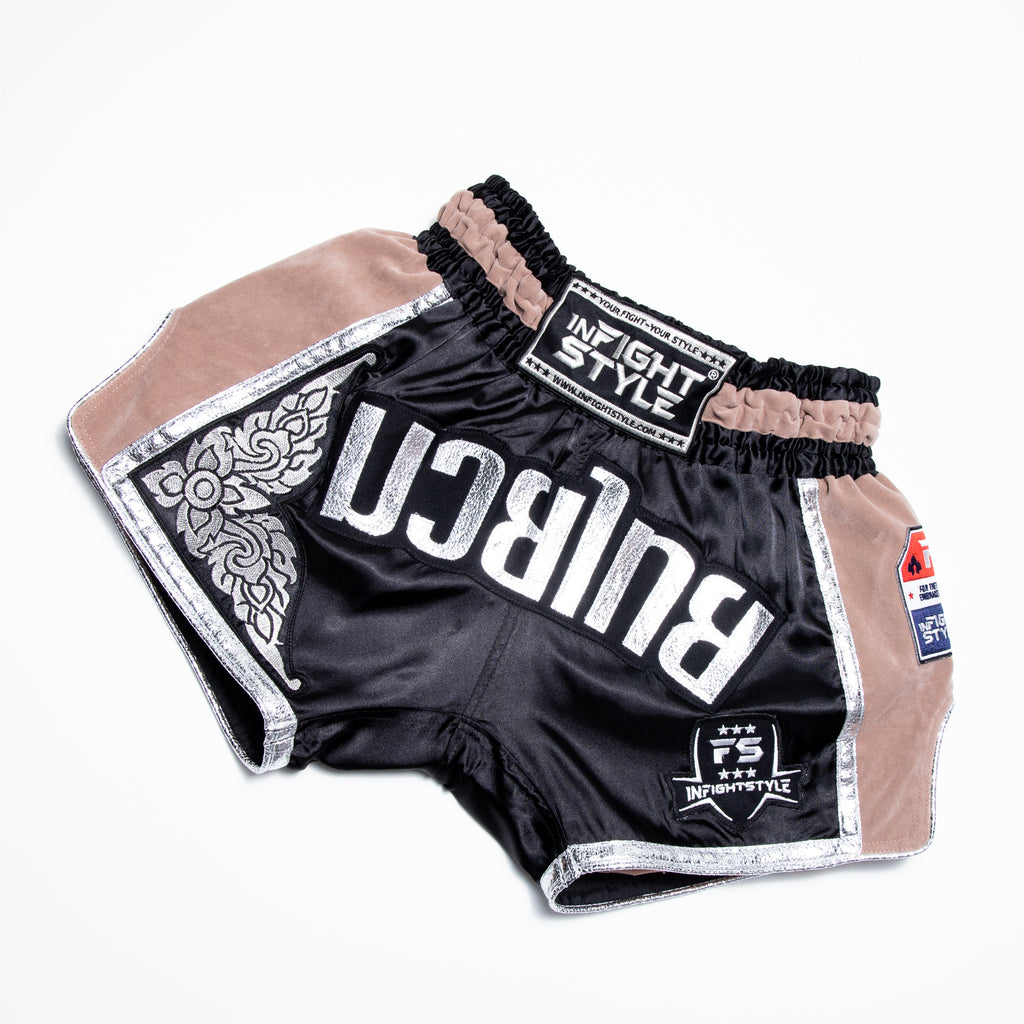 InFightStyle RT20 Retro - Taupe - InFightStyle Muay Thai Gear, Retro Shorts