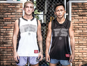"InFightStyle ""Line Up"" Jersey - White - InFightStyle Muay Thai Gear, tank top"