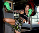 "InFightStyle ""Royal Thai"" Retro - Olive Green Camo - InFightStyle Muay Thai Gear, Retro Shorts"