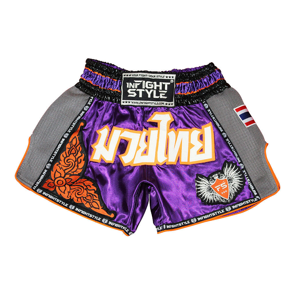 "InFightStyle ""Royal Thai"" Retro - Sunz - InFightStyle Muay Thai Gear, Retro Shorts"