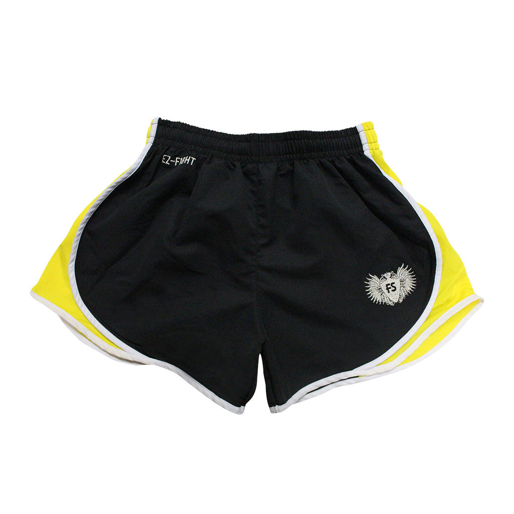 "InFightStyle ""EZ-Fight"" 2.0 - Yellow - InFightStyle Muay Thai Gear, Training Line Shorts"