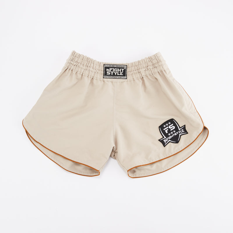 InFightStyle Training Line - Sand - InFightStyle Muay Thai Gear, Training Line Shorts