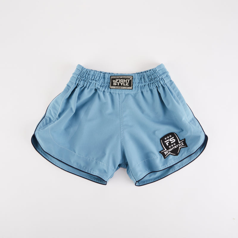 InFightStyle Training Line - Powder Blue - InFightStyle Muay Thai Gear, Training Line Shorts