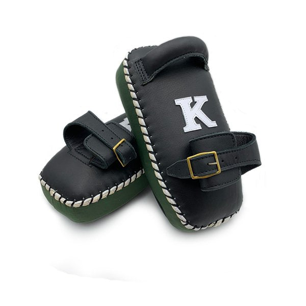 K Brand Single Strap Thai Pads - Black/Black