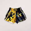 Official InFightStyle x Lionfight Fight Shorts - Black - InFightStyle Muay Thai Gear, Retro Shorts