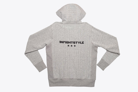 InFightStyle Originals Zip Up Hoodie - Grey Speckle