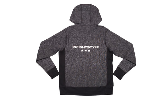 InFightStyle Originals Zip Up Hoodie - Black Speckle