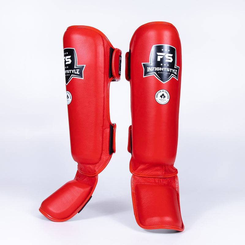 InFightStyle Pro Shinguards - Red