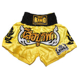 Top King Muay Thai Shorts - Yellow - InFightStyle Muay Thai Gear, Traditional Muay Thai Shorts - Shorts
