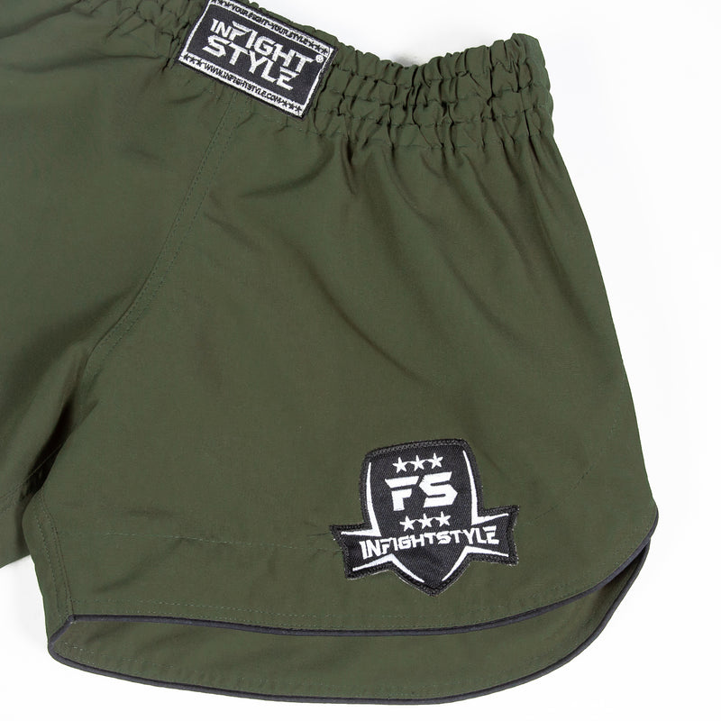 InFightStyle Training Line - Olive - InFightStyle Muay Thai Gear, Training Line Shorts