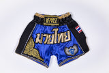 "InFightStyle ""Royal Thai"" Retro - Blue/Gold - InFightStyle Muay Thai Gear, Retro Shorts"