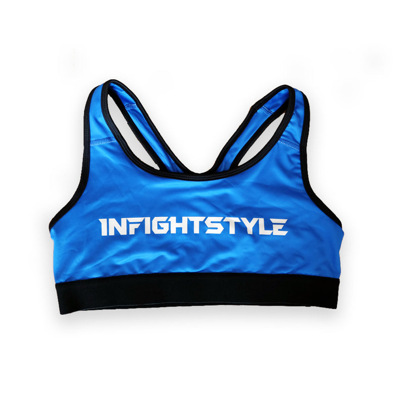 InFightStyle Classic Sports Bra - Blue - InFightStyle Muay Thai Gear, Sports Bra