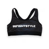 InFightStyle Classic Sports Bra - Black - InFightStyle Muay Thai Gear, Sports Bra