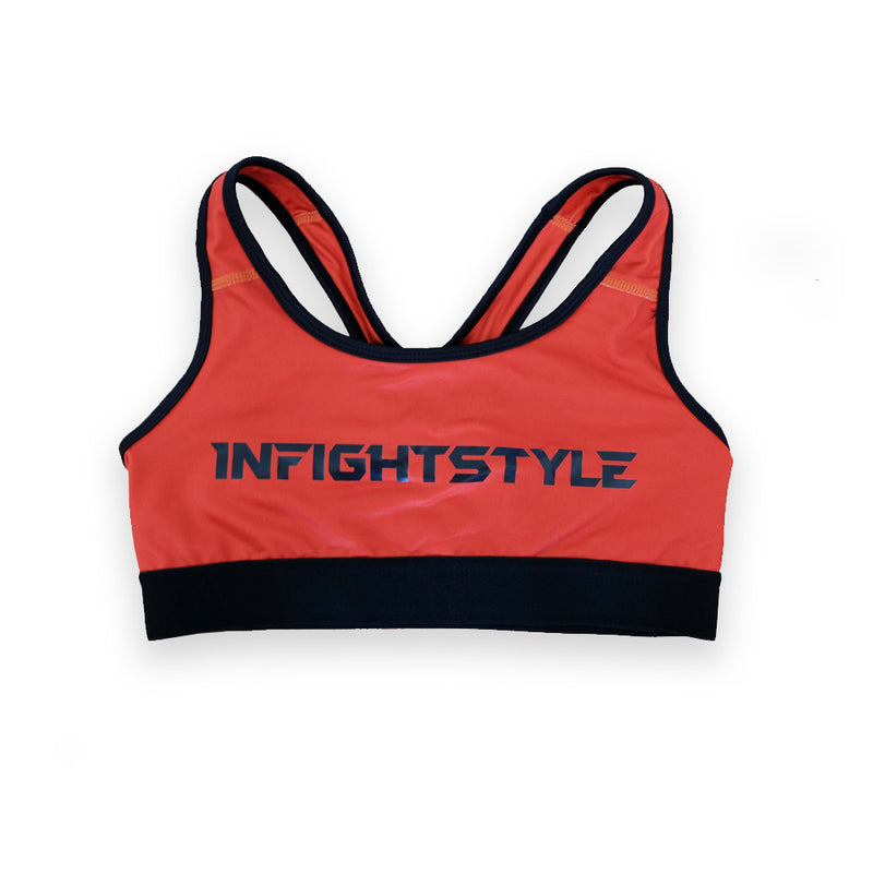 InFightStyle Classic Sports Bra - Red - InFightStyle Muay Thai Gear, Sports Bra