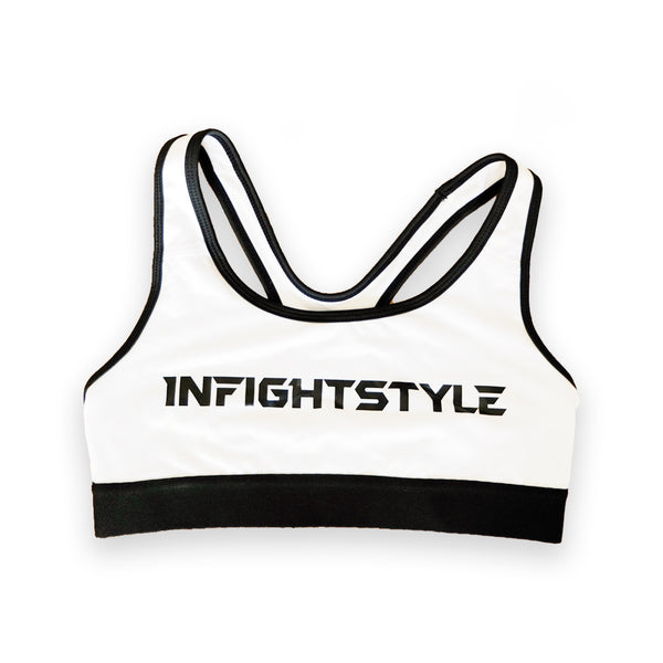 InFightStyle Classic Sports Bra - White