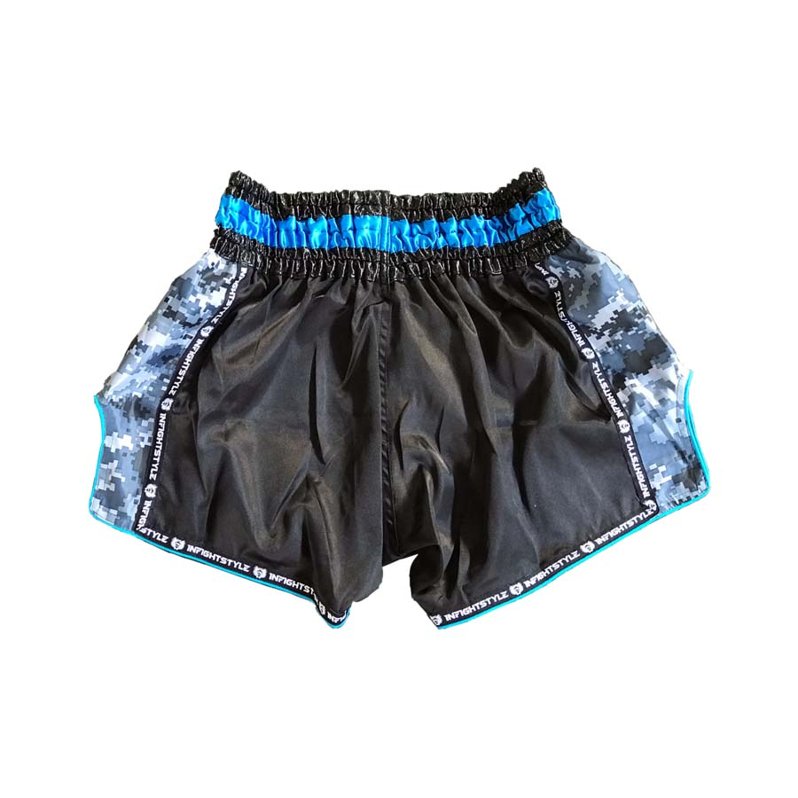 "InFightStyle ""Royal Thai"" Retro - Carolina Blue - InFightStyle Muay Thai Gear, Retro Shorts"