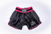 InFightStyle Starter Series - Black/Pink - InFightStyle Muay Thai Gear, Retro Shorts