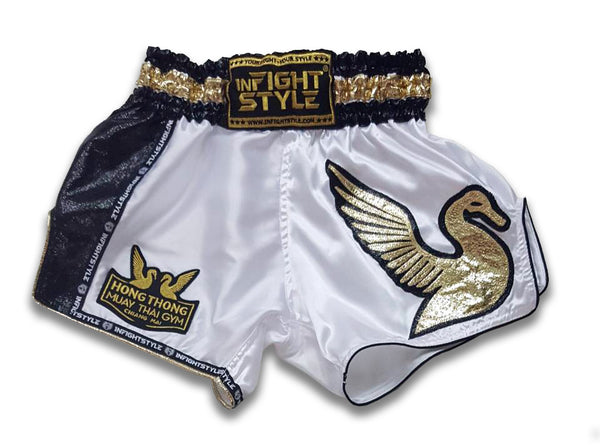Official HongThong Retro Shorts - White