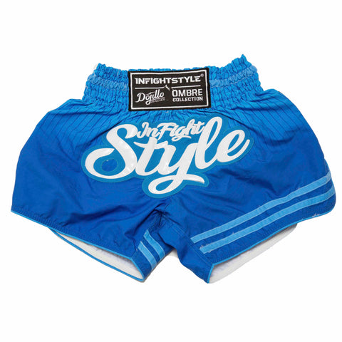 InFightStyle + Dojilo Athletics Ombré Retro Short - True Blue