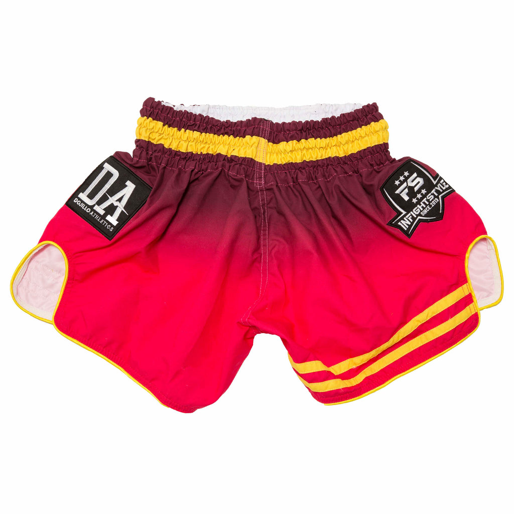 InFightStyle + Dojilo Athletics Ombré Retro Short - Varcity - InFightStyle Muay Thai Gear, Retro Shorts