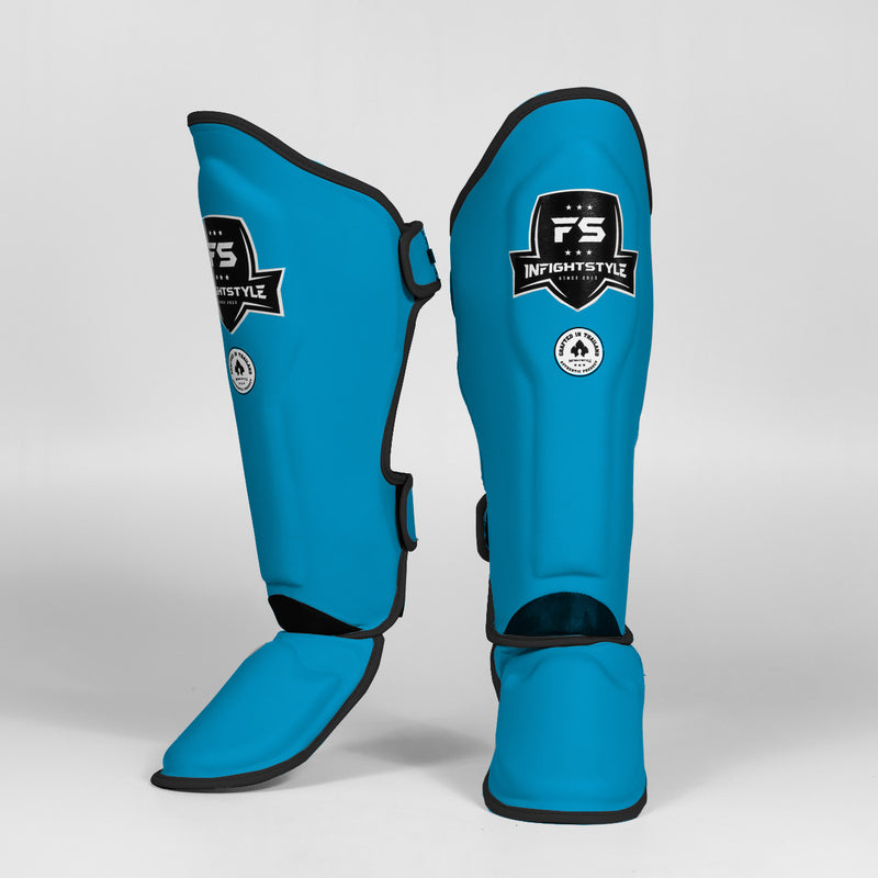 "InFightStyle ""Enfused"" Shinguards - Neon Blue"