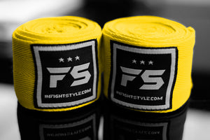 FS Pro Handwraps - Yellow - InFightStyle Muay Thai Gear, hand wrap