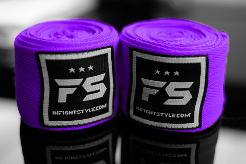 FS Pro Handwraps - Purple - InFightStyle Muay Thai Gear, hand wrap
