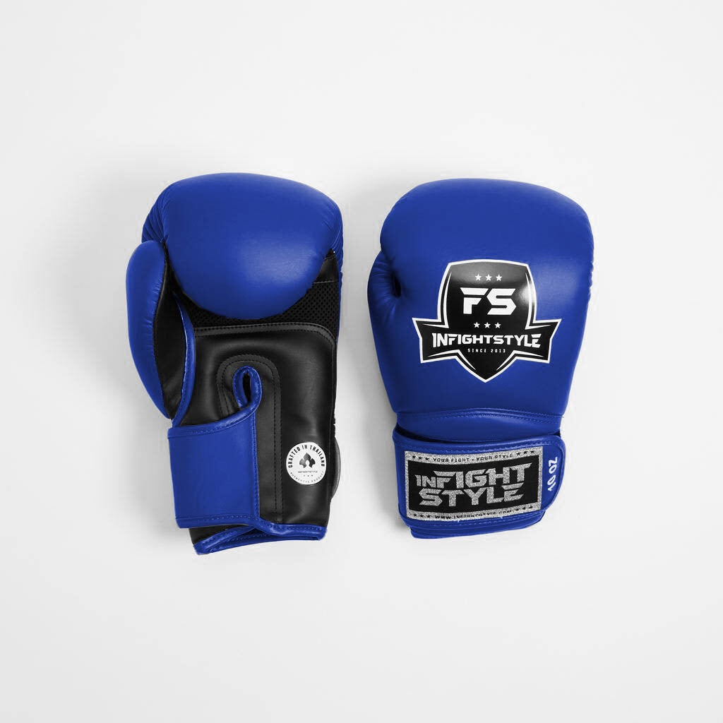 "InFightStyle ""Enfused"" Muay Thai Boxing Glove - Blue - InFightStyle Muay Thai Gear, Boxing Gloves"