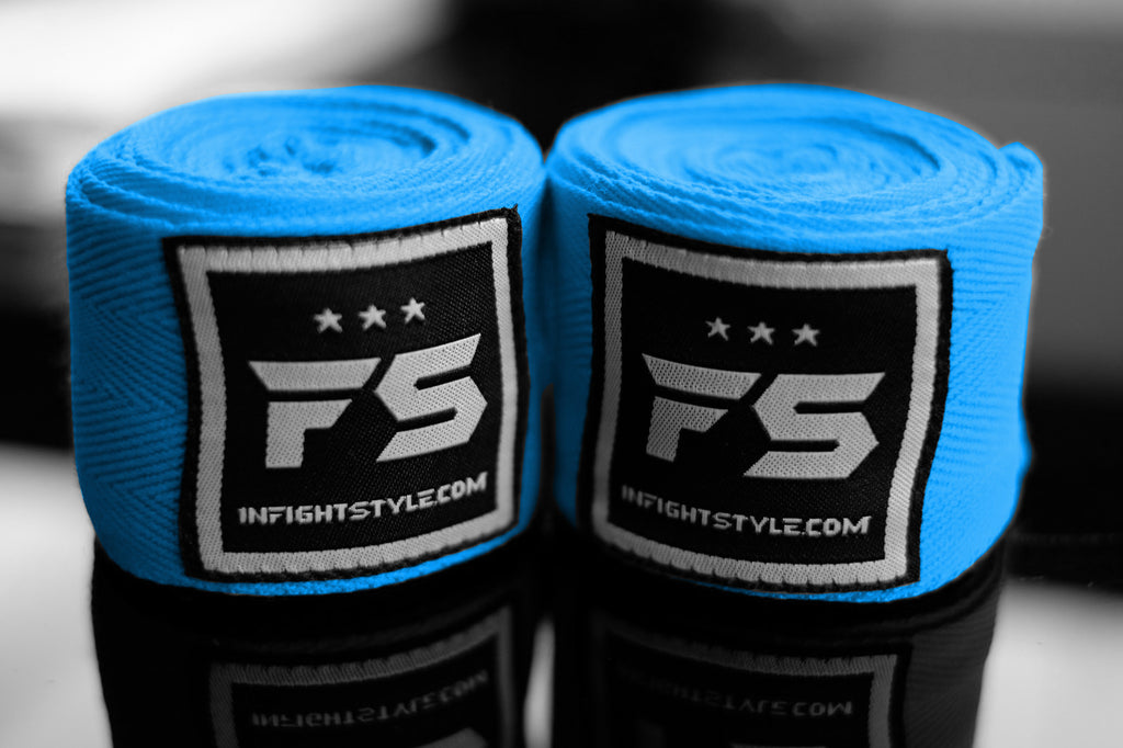 FS Pro Handwraps - Light Blue - InFightStyle Muay Thai Gear, hand wrap