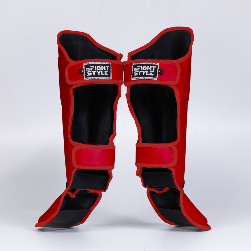 InFightStyle Enfused Shinguards - Red