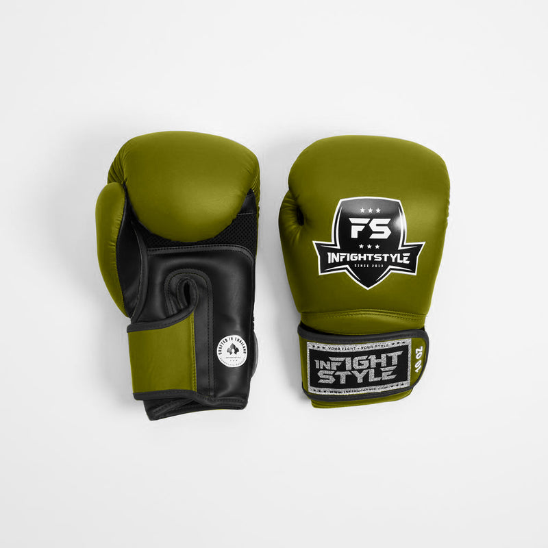 InFightStyle Enfused Muay Thai Boxing Glove - Tank Green