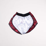 "InFightStyle ""Uncut"" Retro Short - White/Red Camo - InFightStyle Muay Thai Gear, Retro Shorts"