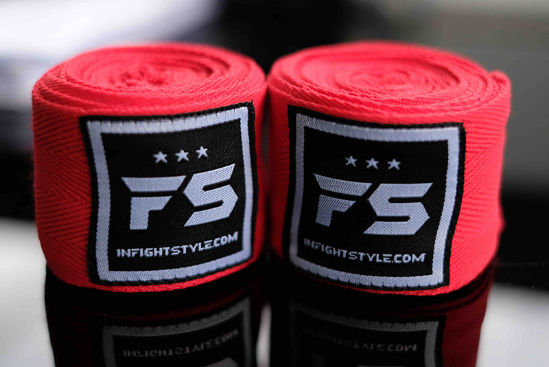 FS Pro Handwraps - Red - InFightStyle Muay Thai Gear, hand wrap